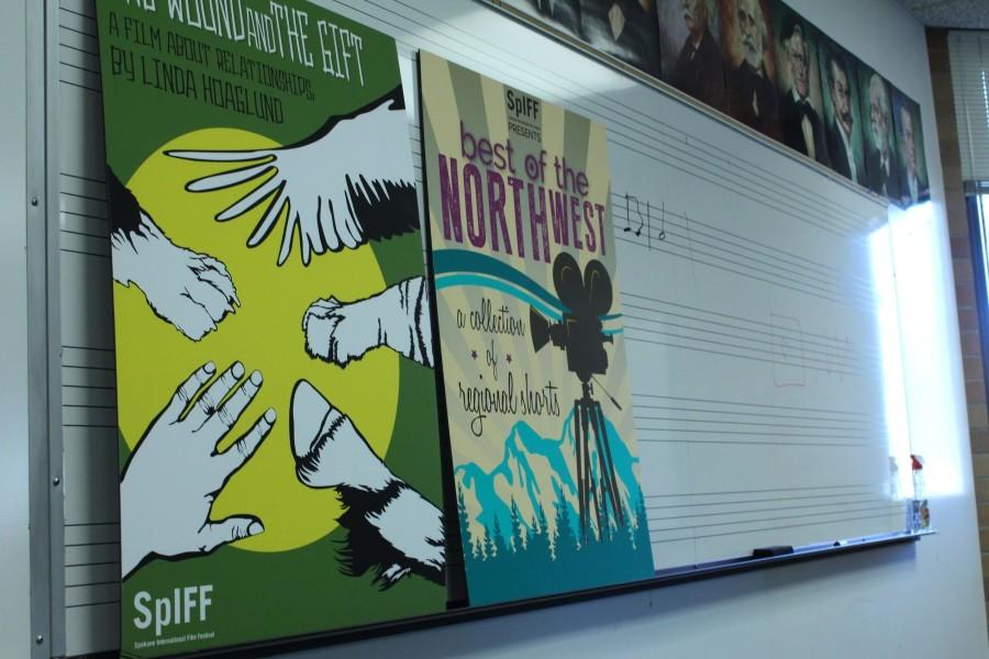 A+photo+of+graphic+design+posters+for+Spokane+International+Film+Festival+done+by+a+student+at+NIC.+