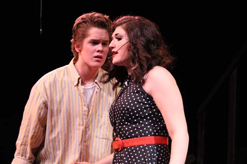 Kenickie+%28Andrew+Shaefer%29+gets+heart%C2%ADbroken+after+he+finds+out+Rizzo+%28Anika+Hille%29+is+%0Apregnant+with+another+man%E2%80%99s+baby.
