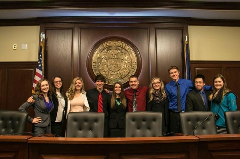 Lake City BPA members at the Idaho State Capitol Building