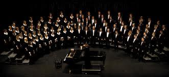 A photo of BYU choir rehearsal