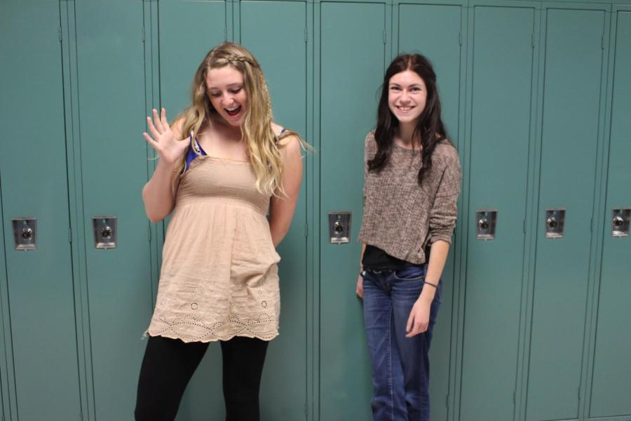 Kaylee disobeying the dress code, while Kailtyn is following it.