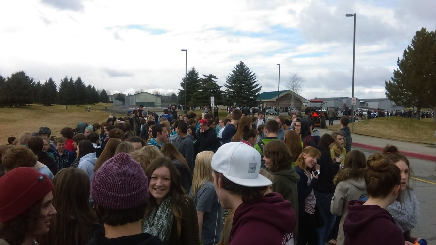 Lake City Students during the fire drill on February 20th.