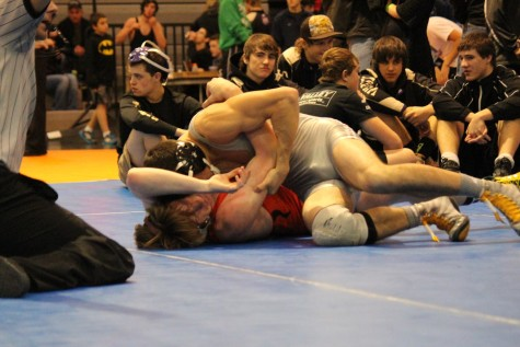 Cory Fachar pins a Post Falls wrestler in a seemingly easy match for him.