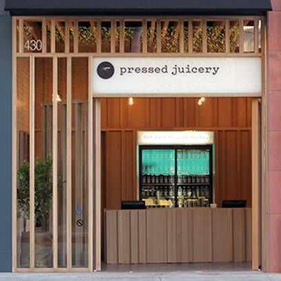 """This is one of over 20 locations of the famous """"Pressed Juicery"""" located all over California and New York"""