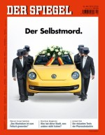 """Volkswagen: From one of the most trusted companies, to reviled liar, all because of one piece of software. Translation: """"The Suicide."""""""