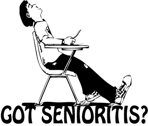 One comedic representation of a student with Senioritis. Note the absolute lack of caring.