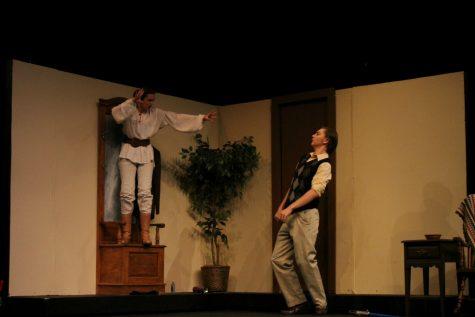"Carol using ""Jedi mind control"" on Tim; Photo courtesy of Tyler Parker"